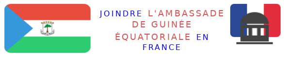 contacter ambassade guinee equatoriale