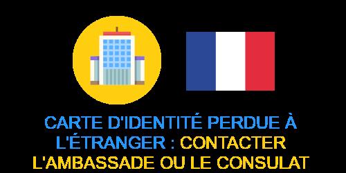 carte identité perdue étranger ambassade
