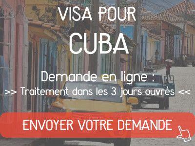 demande visa cuba