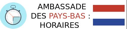 ambassade pays-bas horaire